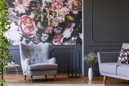 Home trends: wallpaper & plants
