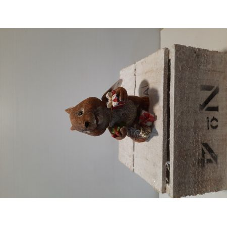 2 asstd standing christmas squirrels - image 1